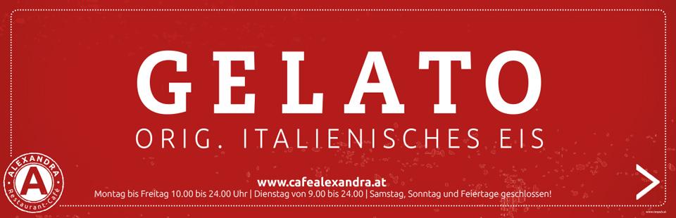 Original Italienisches Eis. Im Cafe Restaurant Alexandra in Ried im Innkreis